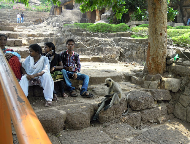Monkey guard, Udayagiri caves, Bhubaneshwar