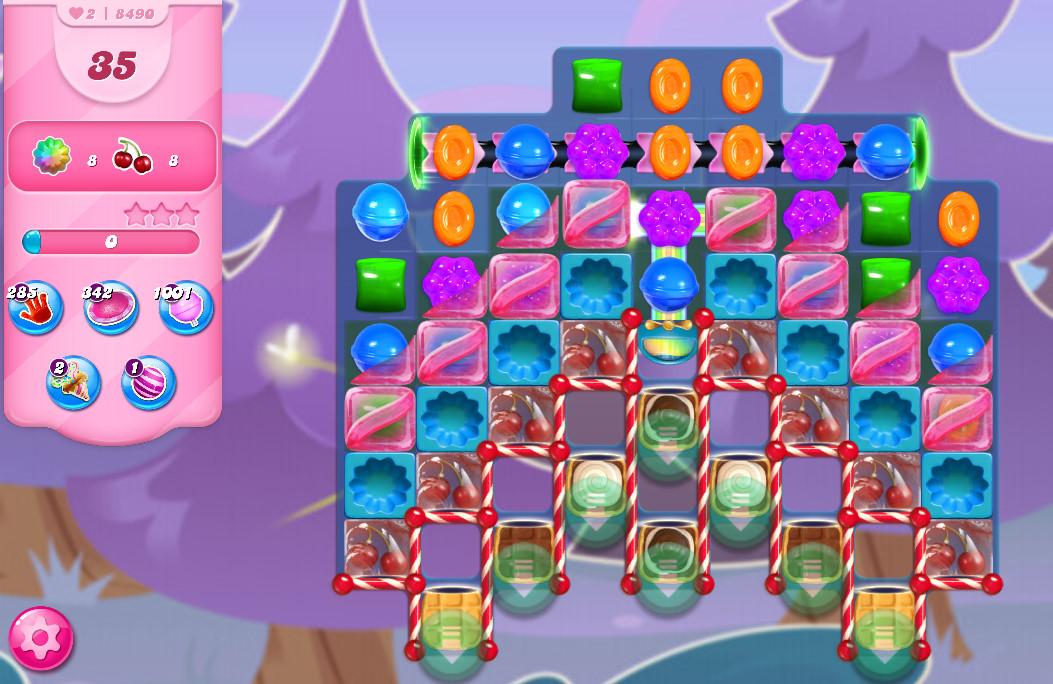 Candy Crush Saga level 8490