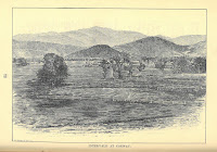 "A printed image of a farm landscape entitled ""Intervale at Conway"""
