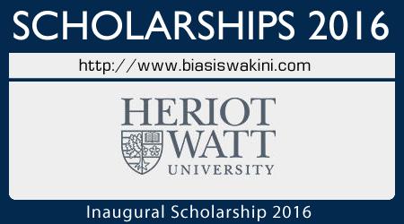 Inaugural Scholarship 2016