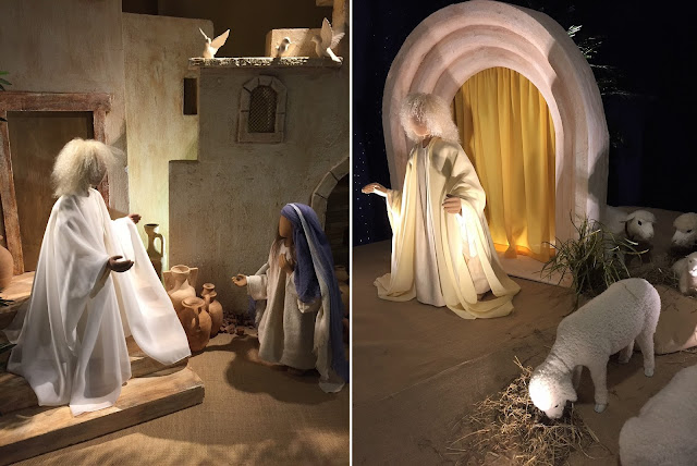 Handgemachte Figuren zur Weihnachtsgeschichte