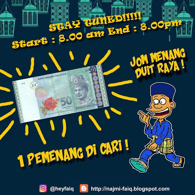 Giveaway Duit Raya RM50 Dari Blog Faiq Najmi