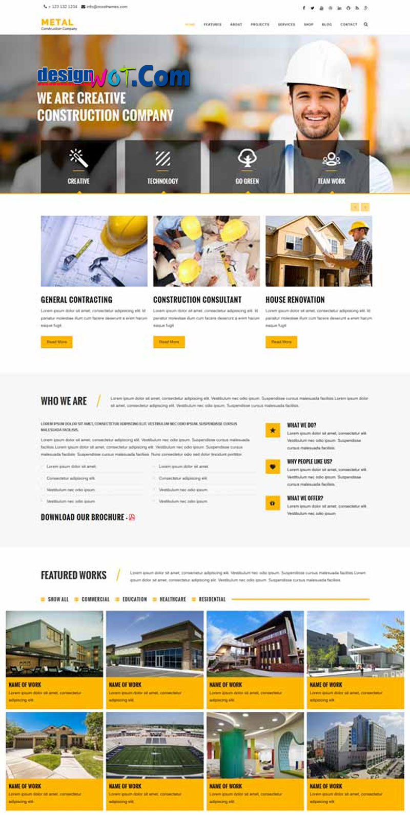 METAL Mobile Friendly Building Construction Business Template
