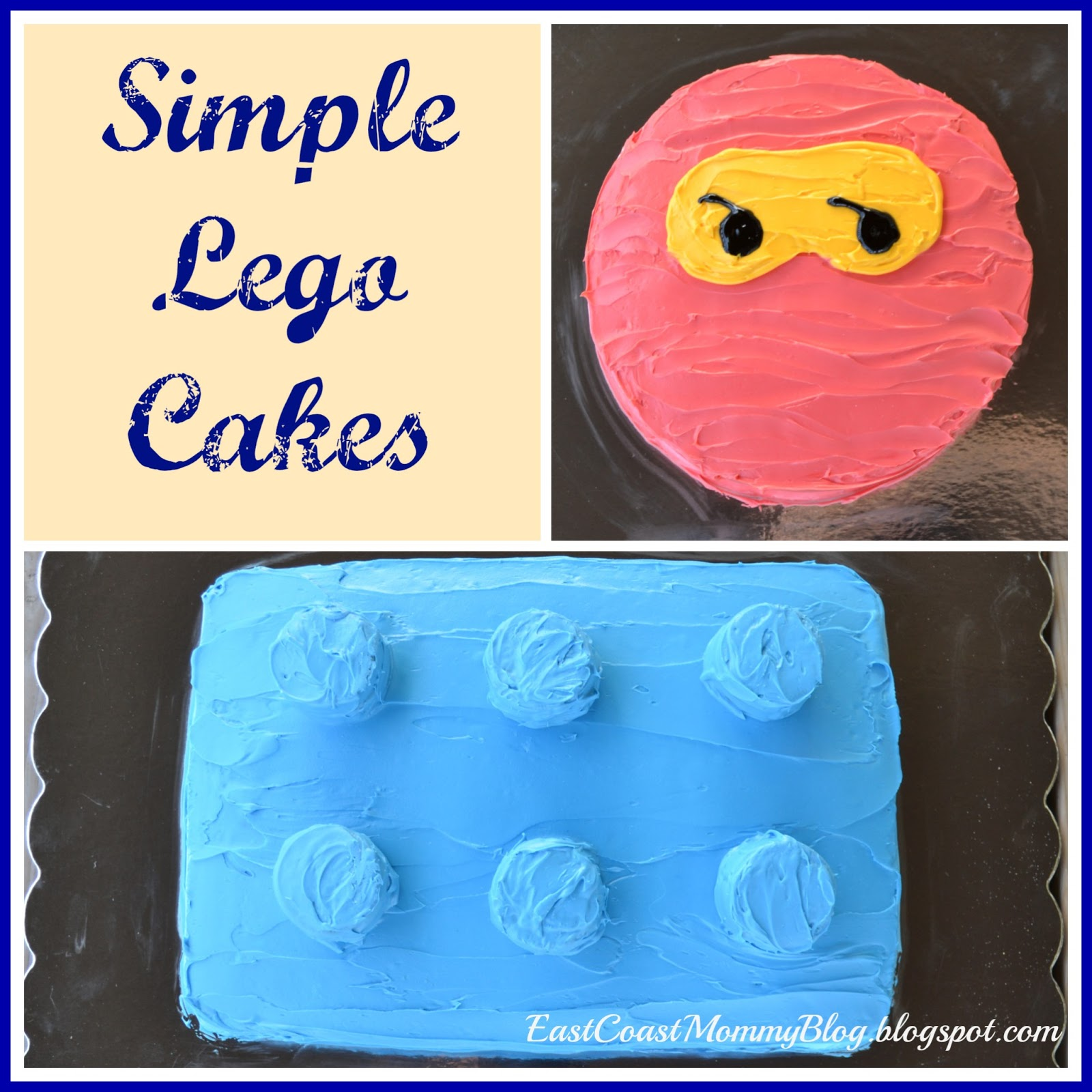 East Coast Mommy Simple Lego Cakes