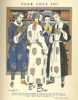 1920 silk dressing gowns men