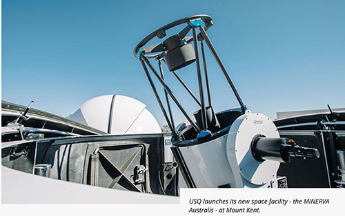 One of four 70-cm Planewave Telescopes at Mount Kent Observatory (Source: MINERVA - Australis)