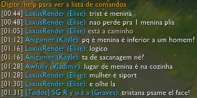 Machismo league of legends, tirinha
