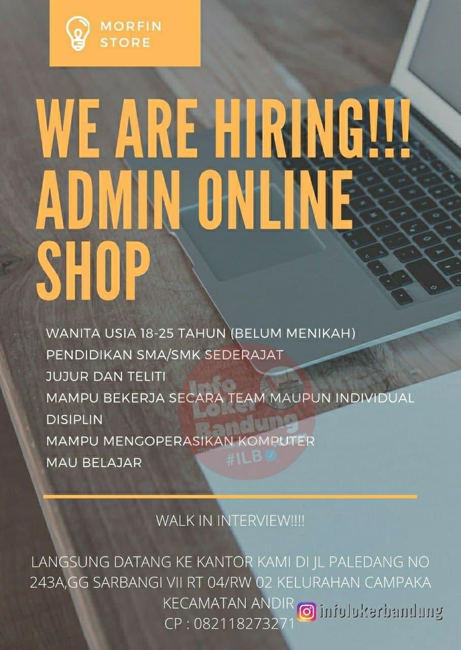 Lowongan Kerja ( Walk In Interview ) Morfin Store Bandung Februari 2021