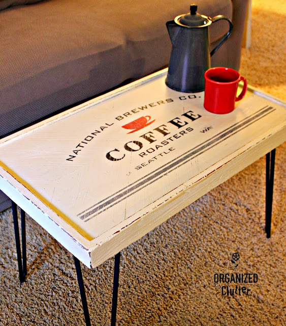 Coffee Themed Coffee Table organizedclutter.net