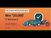 Amazon Car & Bike Protection Quiz Answers 17-Feb-2021