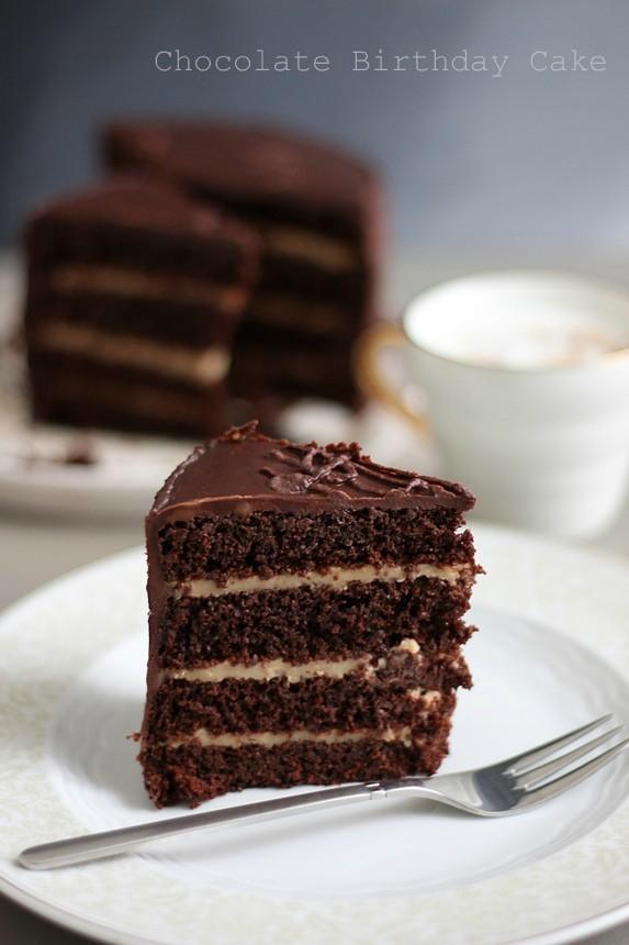 вкусна шоколадова торта, торта с четири блата, шоколадова торта с пудинг