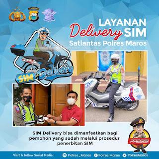 Layanan Inovatif,Sat Lantas Polres Maros Buka Layanan Delivery SIM