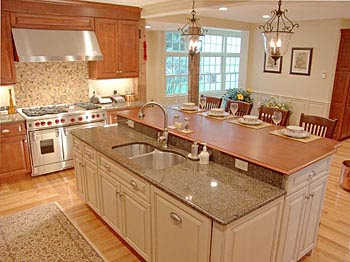 Kitchen Island Counter 3 Hole Faucets Home Manners Of Style