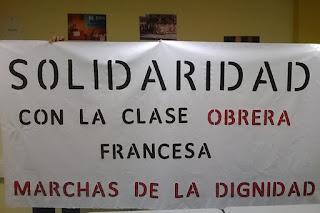 Zaragoza se concentrará en solidaridad con la clase obrera francesa