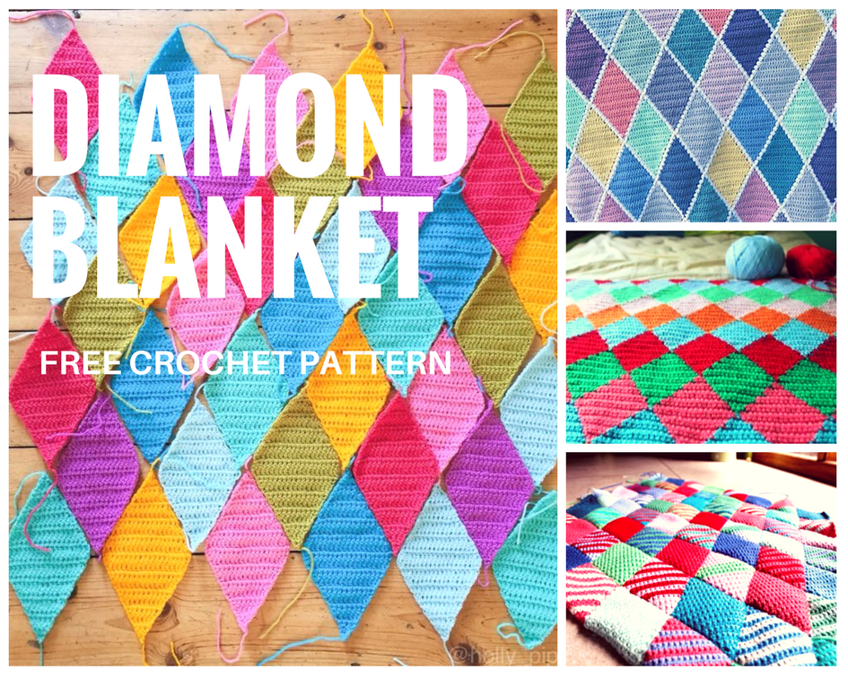 Diamond Blanket Crochet Free Pattern Crochet Designs And Free Patterns