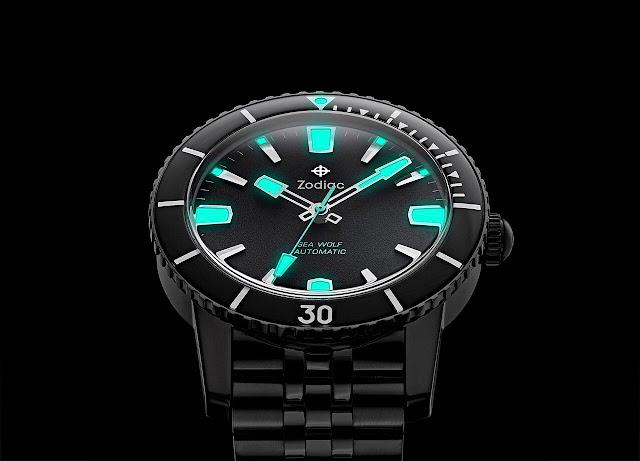 Zodiac Super Sea Wolf 53 Compression Automatic Black ref. ZO9276