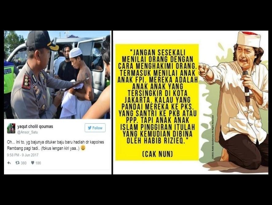 Cak Nun Jangan Hakimi Fpi Anak Anak Islam Pinggiran Yang