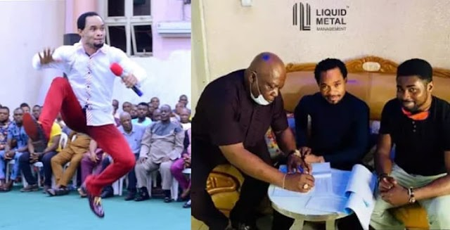 Liquid Metal Management Signs Prophet Odumeje As Brand Ambassador (Video)