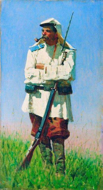 Василий Васильевич Верещагин - Туркестанский солдат в зимней форме. 1873