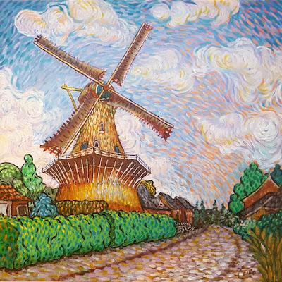 De Twee Gebroeders Roosendaal Like Van Gogh by Erika Stanley