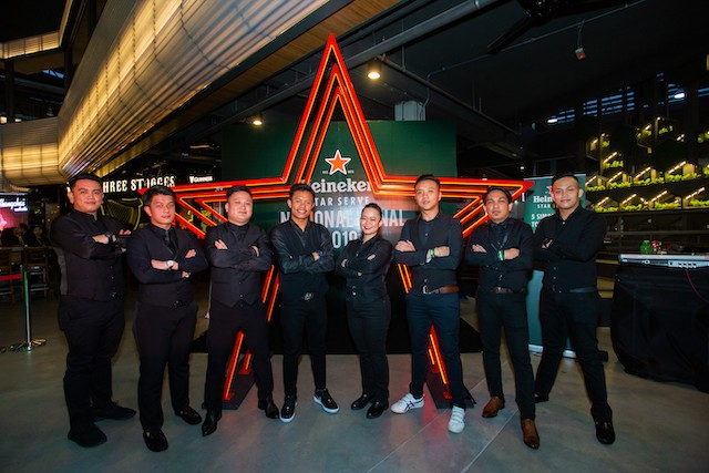 8 finalists at the Heineken Star Serve Bartender Finals