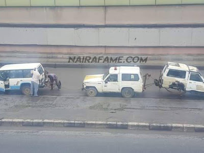 DOUBLE WAHALA! Towing Vehicles Spoil in Process of Towing Another Towing Vehicle. PHOTOS