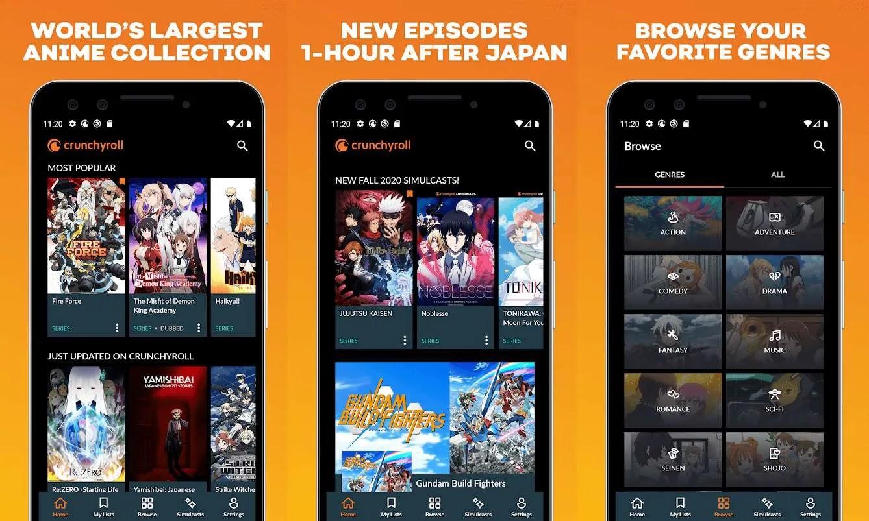 تطبيق Crunchyroll Anime Streaming