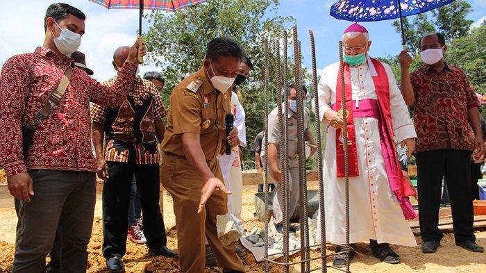 Pembangunan Gereja Katolik Santo Yohanes Maria Vianey di Dusun Jonti Dimulai