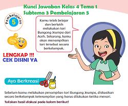 Kunci Jawaban Kelas 4 Tema 1 Subtema 3 Pembelajaran 5 www.simplenews.me