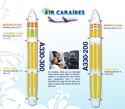 Classe Caraibes : plan  et place avion