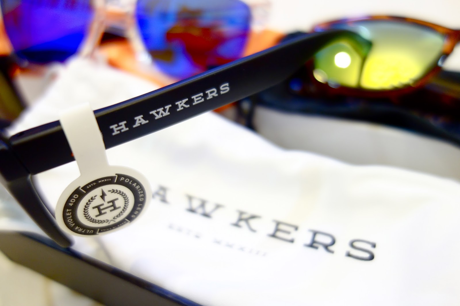 2d537fcc61 The logo and branding present in both arms. Other celebrities have donned Hawkers  Co. sunglasses ...