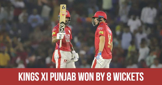 Kings XI Punjab won by 8 wickets