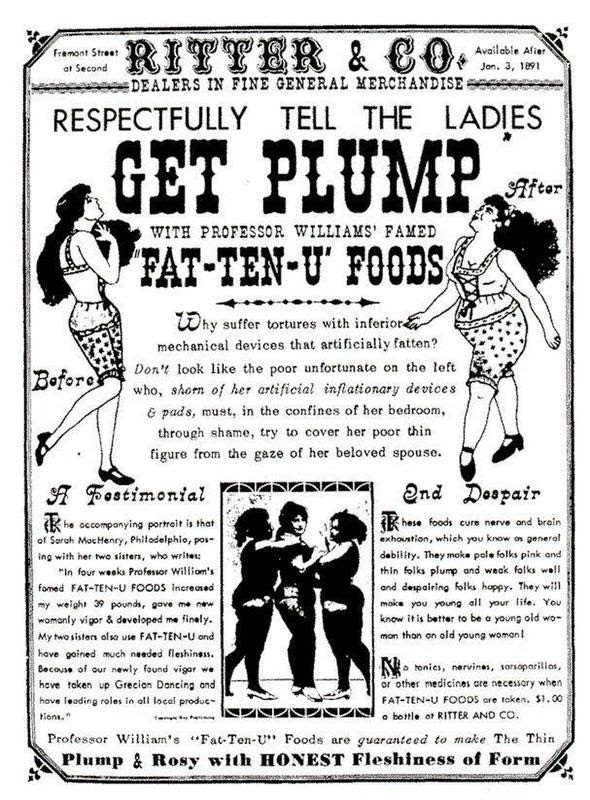 Poster Ad: Copy says - Respectfully tell your lady to get plump