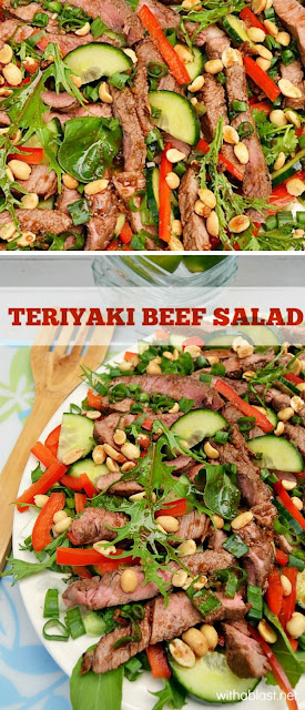 Delicious , filling Beef Salad  #Healthy #SaladRecipe