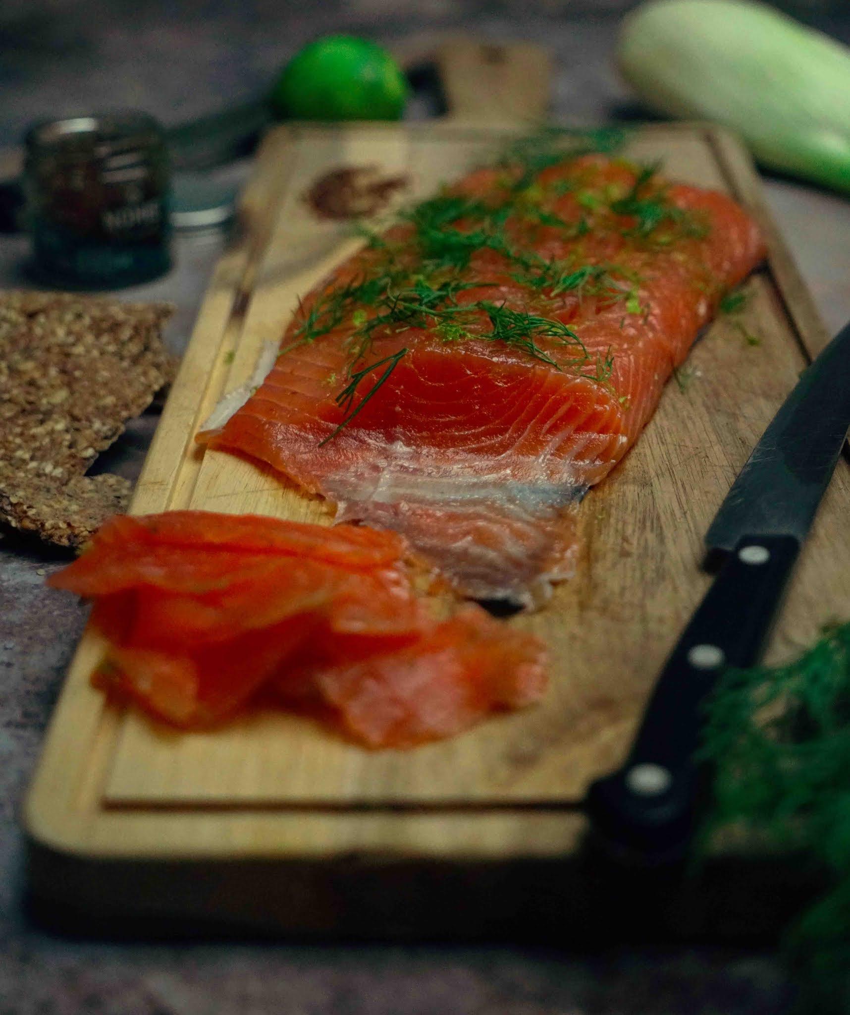saumon gravlax, recette légère de saumon