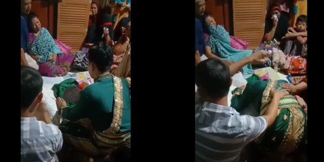 Ibunya Meninggal Jelang Resepsi Pernikahan, Mempelai Pria Ini Begitu Terpukul dan Nangis Sesenggukan