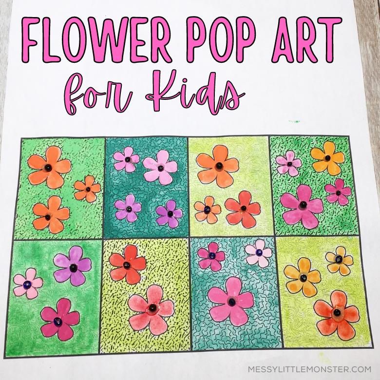 Flower pop art for kids