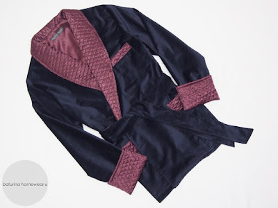 mens dark blue velvet smoking jacket with quilted silk collar english cigar smoker robe gentleman vintage style