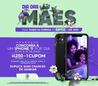 Cadastrar Promoção Campinas Shopping Dia das Mães 2021 iPhone 11 Todo Dia