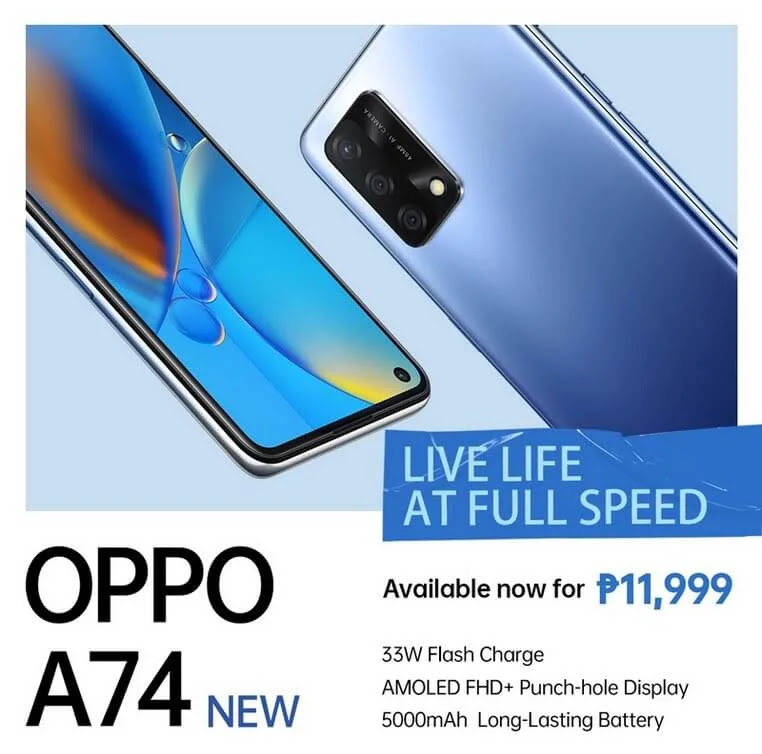 OPPO A74 4G Launches in PH for Only PHP11,999