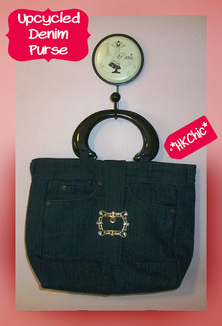 up cycled denim purse