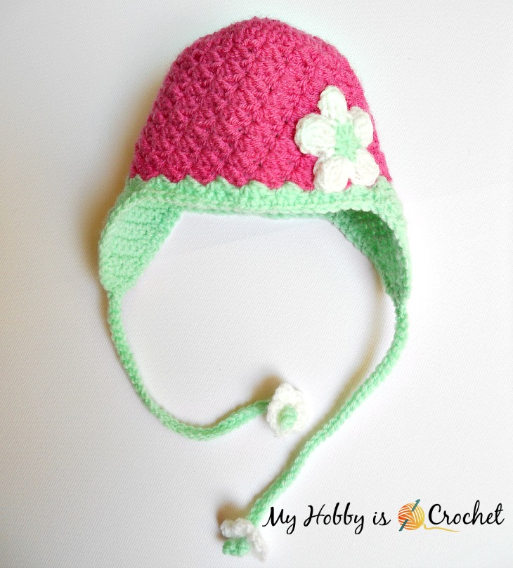 Blooming Berry  Earflap Baby Hat – Free Crochet Pattern