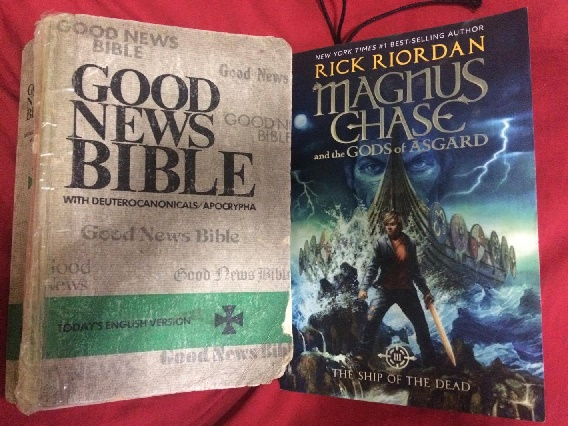 Holy Bible, Rick Riordan's Magnus Chase and the Gods of Asgard Book 3 The Ship of the Dead