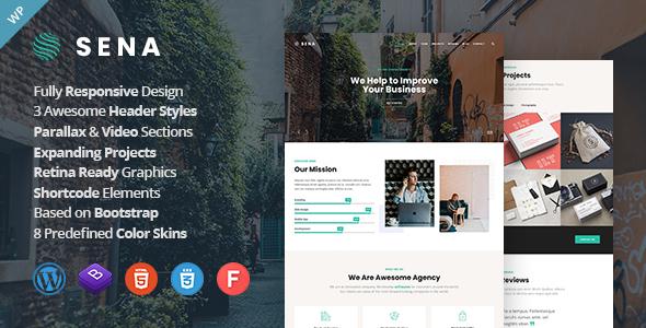 Sena Creative MultiPurpose Responsive Wordpress Themes