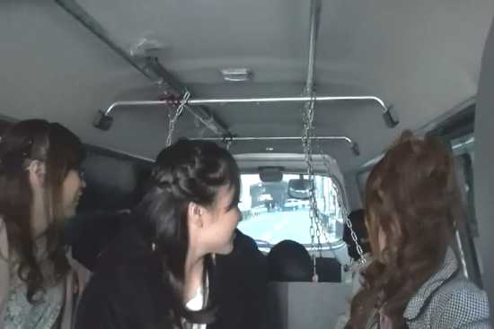 3 japanese mistresses with slave in a minivan. slave chained inside car. yapoo market venus semidocumentary YMVD 006
