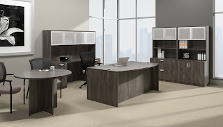 artisan grey executive desk