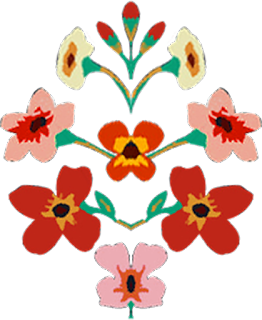 Digital Flower Patch design 2406