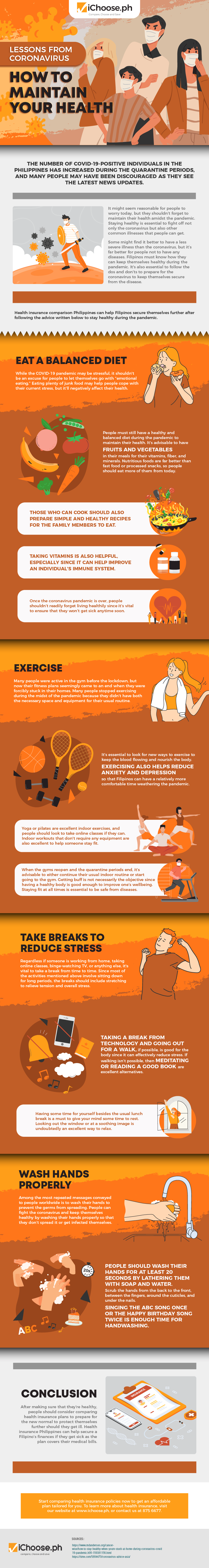Lessons From Coronavirus: How To Maintain Your Health #infographic