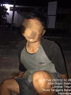Terduga begal berinisial Y (20) warga Bilelando, Praya Timur, Loteng,
