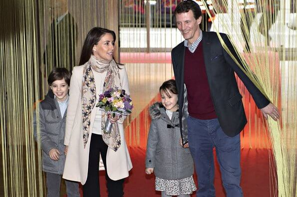 Prince Joachim, Princess Marie and their children Prince Henrik and Princess Athena returned to Denmark from Paris